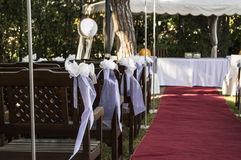 Wedding chairs Royalty Free Stock Photos