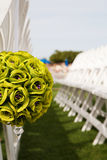 Wedding Chairs and Flowers Royalty Free Stock Photo