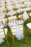 Wedding chairs stock image