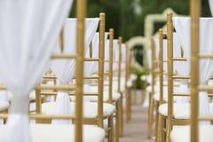 Wedding chairs stock photography