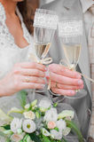 Wedding champagne Stock Photography
