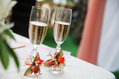 Wedding champagne on the ceremony Stock Photo