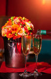 Wedding champagne on the ceremony Royalty Free Stock Photos