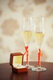 Wedding champagne flutes Royalty Free Stock Photos