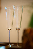 Wedding Champagne Flutes at Reception Stock Image