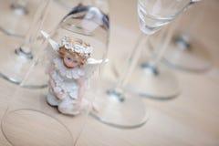 Wedding champagne glass Angel studio. Quality stock photos