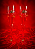 Wedding champagne glasses Royalty Free Stock Images