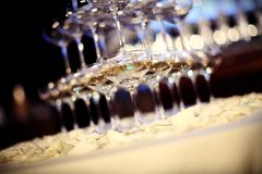Wedding Champagne glasses Stock Photo
