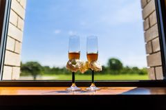 Wedding Champagne glasses Stock Image