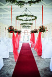 Wedding chapel aisle Stock Images