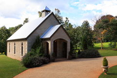 Wedding chapel venue. Charming wedding chapel, situated in the heart of the Hinterland of Queensland (Australia) in autumnal scenery Royalty Free Stock Image