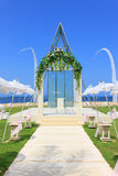 Wedding chapel by the beach Royalty Free Stock Images