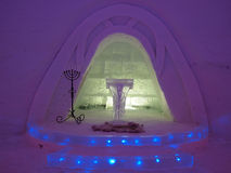 Wedding chapel in ice hotel Stock Photography