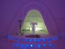 Wedding chapel in ice hotel stock photography