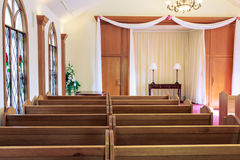 Wedding chapel interior Royalty Free Stock Images