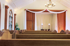 Wedding chapel interior Royalty Free Stock Image