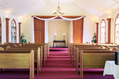 Wedding chapel interior - horizontal Stock Image