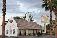 Wedding chapel in Las Vegas, Nevada Royalty Free Stock Images