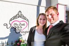 Wedding chapel in Las Vegas Royalty Free Stock Images