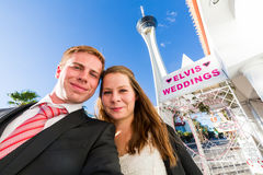 Wedding chapel in Las Vegas Royalty Free Stock Images