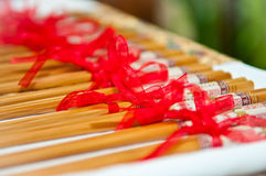 Wedding Chinese Chopstick Gift. Chopstick gift during wedding ceromony stock photography
