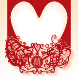 Wedding Chinese card red Stock Images