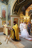 Wedding Christian orthodox church ceremony Royalty Free Stock Image