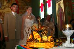 Wedding in church. Royalty Free Stock Photos