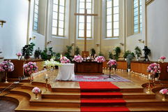 Wedding in church Royalty Free Stock Photography