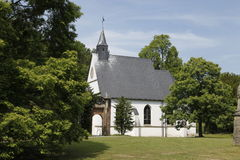 Wedding church blue sky. Famous church in a town with the name Herten. There is a famous castle called  Schloss Herten  integrated is a little small church for Royalty Free Stock Photography