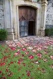 Wedding church door Royalty Free Stock Image