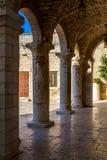 Wedding church. KFAR KANNA, ISRAEL - OCTOBER 13: Colonnade of Wedding church in Kfar Kanna, Israel on October 13, 2015 Royalty Free Stock Photo