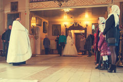 The wedding in the Church in Kirov city Royalty Free Stock Images