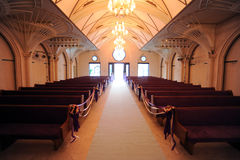 Wedding in the church. View from the front Stock Photos