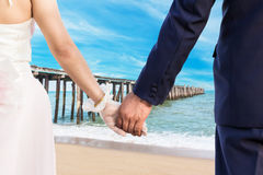 Wedding at clean beach Royalty Free Stock Images