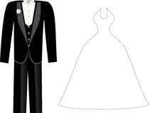 Wedding Clothes vector illustration