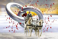 Wedding, Coach, Love, Heart, Marry Royalty Free Stock Photo