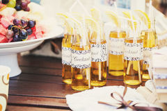 Wedding Cocktail with straws for drinking Royalty Free Stock Image