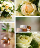 Wedding collage Stock Photos