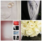 Wedding collage. A collage of weddings photos Stock Image