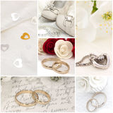 Wedding collage Stock Images