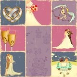 Wedding Collage Royalty Free Stock Images