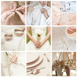 Wedding collage stock photo
