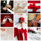 Wedding collage. Collection of nine wedding photos Royalty Free Stock Photo