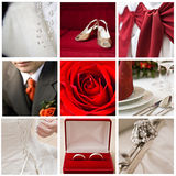 Wedding collage. Collection of nine wedding photos Royalty Free Stock Image