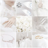 Wedding collage. Collection of nine wedding photos Royalty Free Stock Photo