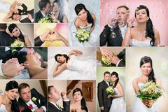 Wedding collage Stock Image