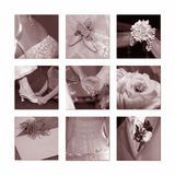 Wedding Collage royalty free stock photography