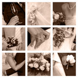 Wedding collage. A collage of nine wedding photos - in pink color Royalty Free Stock Image