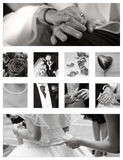 Wedding Collage background collection Stock Photos